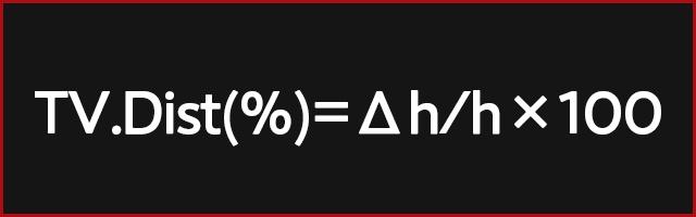 TV.Dist (%) = Δh/h×100
